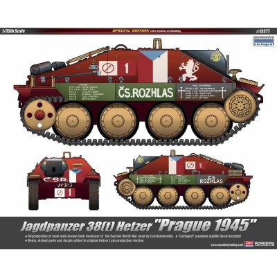 """JAGDPANZER 38(t) HETZER """"PRAGUE 1945"""" - 1/35 SCALE"""