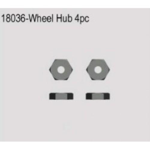 WHEEL HUB 9mm - 4 PCS - 1/18 SCALE DART MT